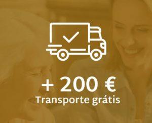 Entregas grátis em compras superiores a 200 Euros